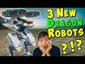 3 New Flying Dragon Robots - Early Stats Info & War Robots Skirmish Gameplay WR