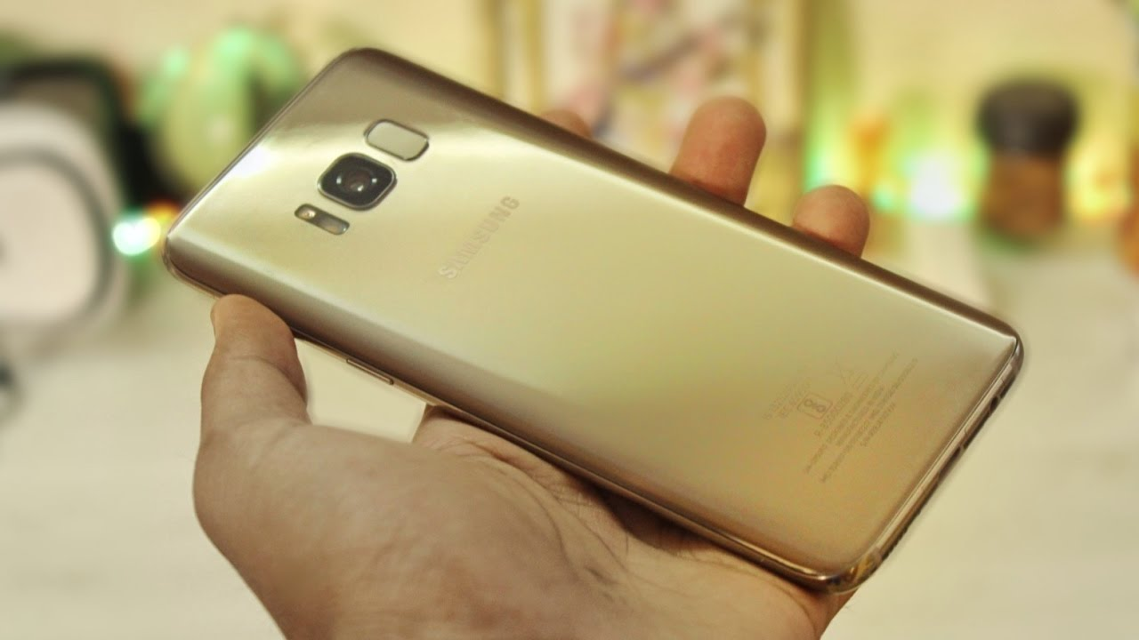 Galaxy S8 Mapple Gold Unboxing Indian Retail Unit Youtube