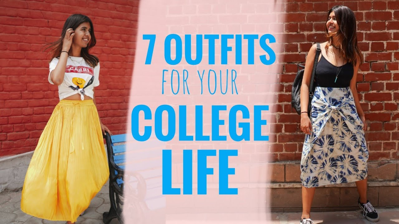 [VIDEO] – 7 outfits for your COLLEGE LIFE   Sejal Kumar