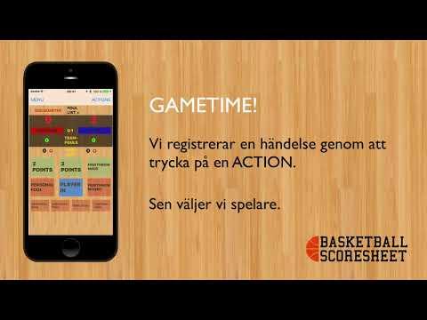MATCHPROTOKOLLAPP - basketball scoresheet