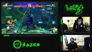 SSF4 Casual Matches: RZR Latif (Cammy, Ryu, Viper) vs AIAB Kyoku (Bison)