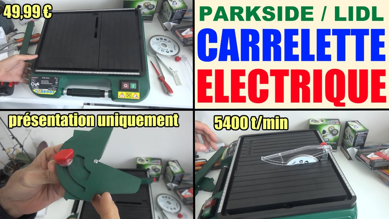 Carrelette Electrique Parkside Lidl Pfsm 500 A1 Lidl Coupe Carreau Tile Cutting Machine
