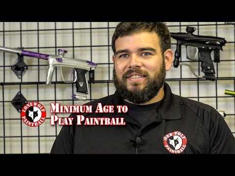 How old to Play Paintball Minimum Age to Play at Lone Wolf Paintball Michigan