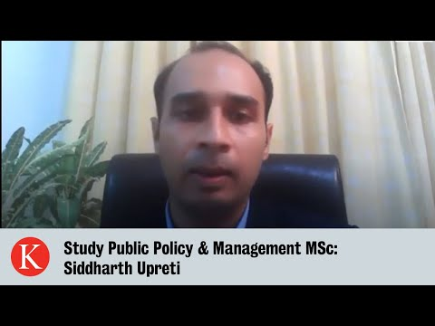 Study Public Policy & Management: Siddharth Upreti