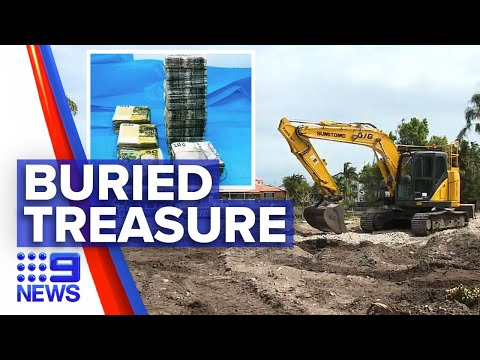 Buried treasure in Gold Coast backyard | 9 News Australia