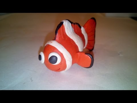 Рыбка Немо из пластилина