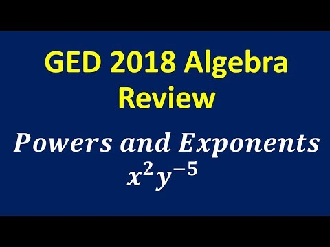Download GED 2018 Algebra Review Powers and Exponents Mp4 baru