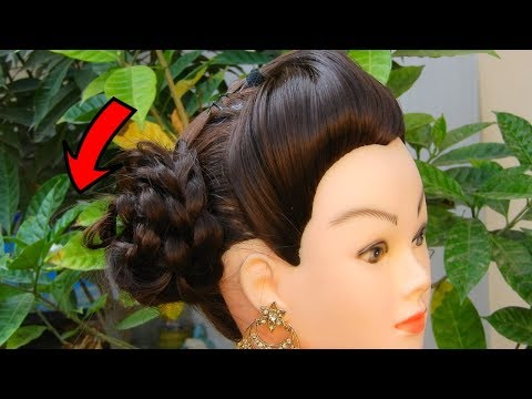 Beautiful Front puff with side Juda || Easy and amazing juda hairstyle || Hairstyles New Year 2019 thumbnail