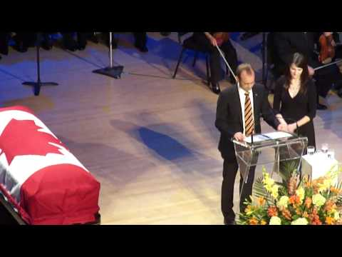 Jack Layton memorial ceremony: a perspective from inside Roy Thomson Hall Toronto 2011-08-27