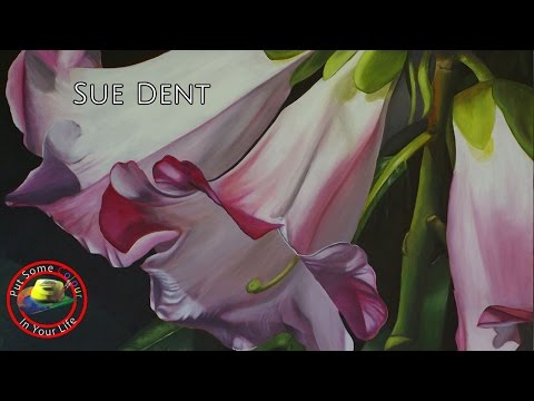 Fine art tips with Sue Dent on Colour In Your Life, learn to paint roses.