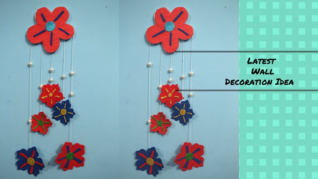 DIY Wall Decoration Ideas : Latest Wall Decoration Idea || Simple Method To  Make Wall Hanging 2017