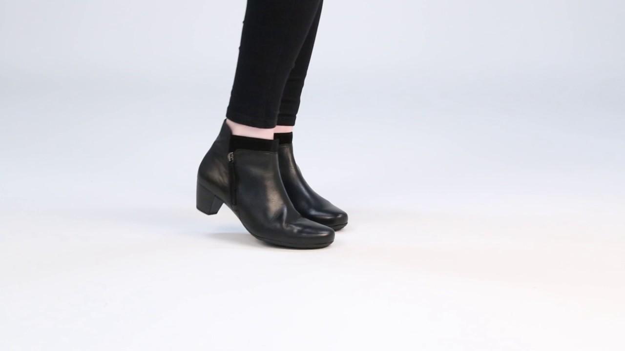 GABOR Bonsoir Black/Suede Womens Modern Ankle Boots