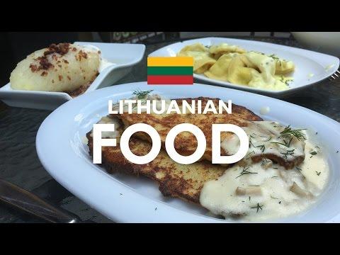 Trying Lithuanian food at 101 kepyklele Kaunas, Lithuania