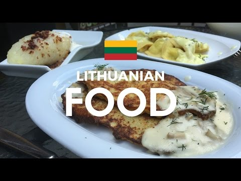 Trying Lithuanian food at 101 kepyklele Kaunas, Lithuania