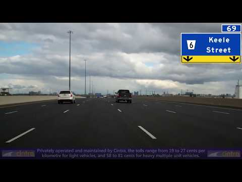Eastbound Ontario Highway 407 ETR, Ontario Hwy 427 To Ontario Hwy 404