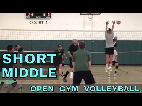 SHORT MIDDLE -≠Open Gym Volleyball Highlights (2/22/18)