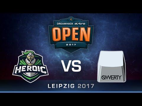 CS:GO - Heroic vs QWERTY - Cobblestone - Group A - DreamHack ASTRO Open Leipzig 2017
