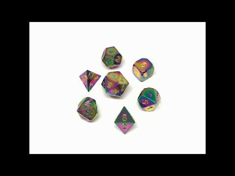 Trial By Fire Rainbow Metal RPG Dice Set