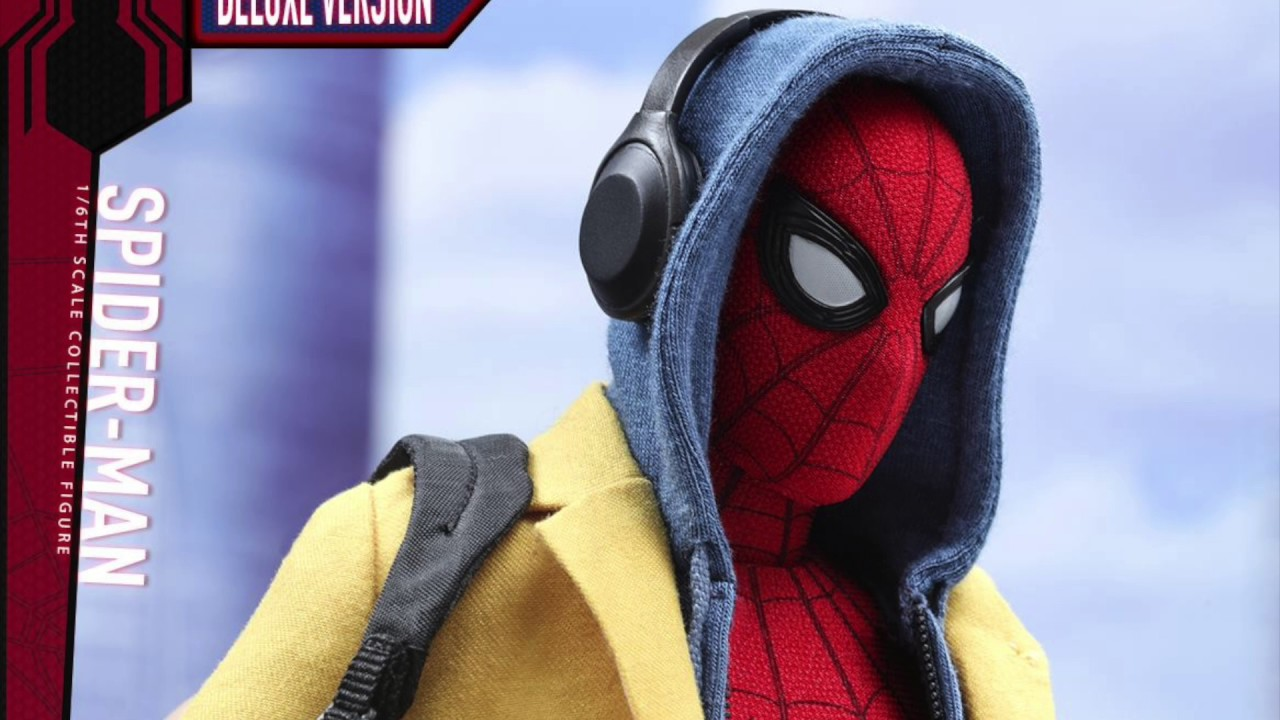 Spider Man Homecoming Hot Toys Spider Man Deluxe 1 6 Scale Movie