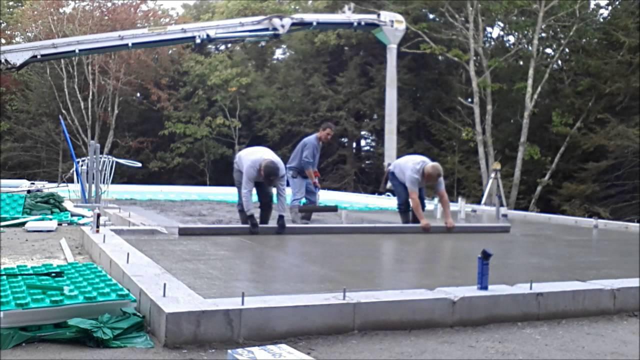 How We Pour A Concrete Floor