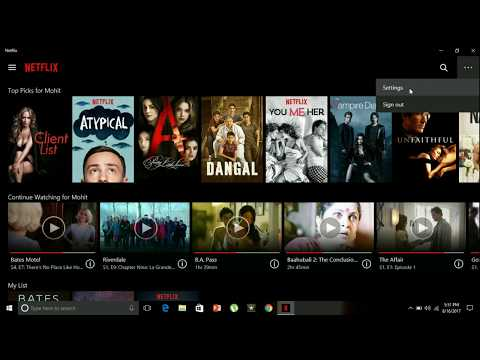 How to use Netflix App in Windows 10