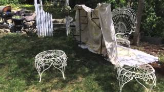 Painting Outdoor Furniture With A Spray Gun