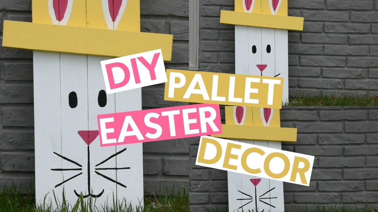 DIY Pallet Easter Decor - YouTube