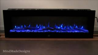 LED Electric Fireplace Fire Flame EL FUEGO