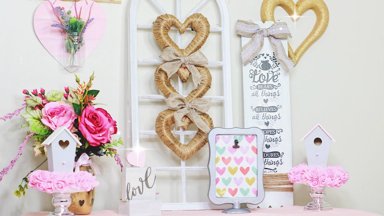 DOLLAR TREE DIY VALENTINES DECOR IDEAS 2019! Easy Dollar