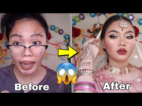 I tried Following INDIAN Makeuptransformation! All izz well!