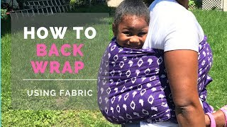 How To Back Wrap With Fabric