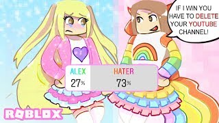 My Hater And I Made Cute Outfits and Let My Fans Choose Who Did It Better... | Roblox