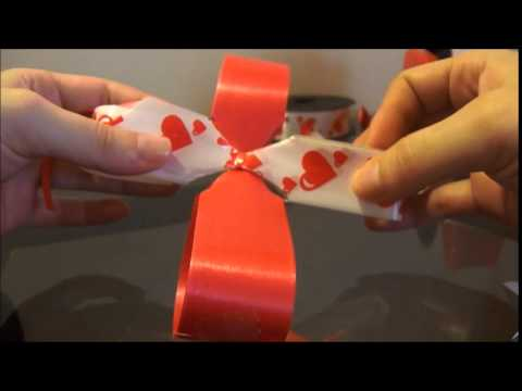 Tutorial como hacer moños pom pom - How to make a puffy bow
