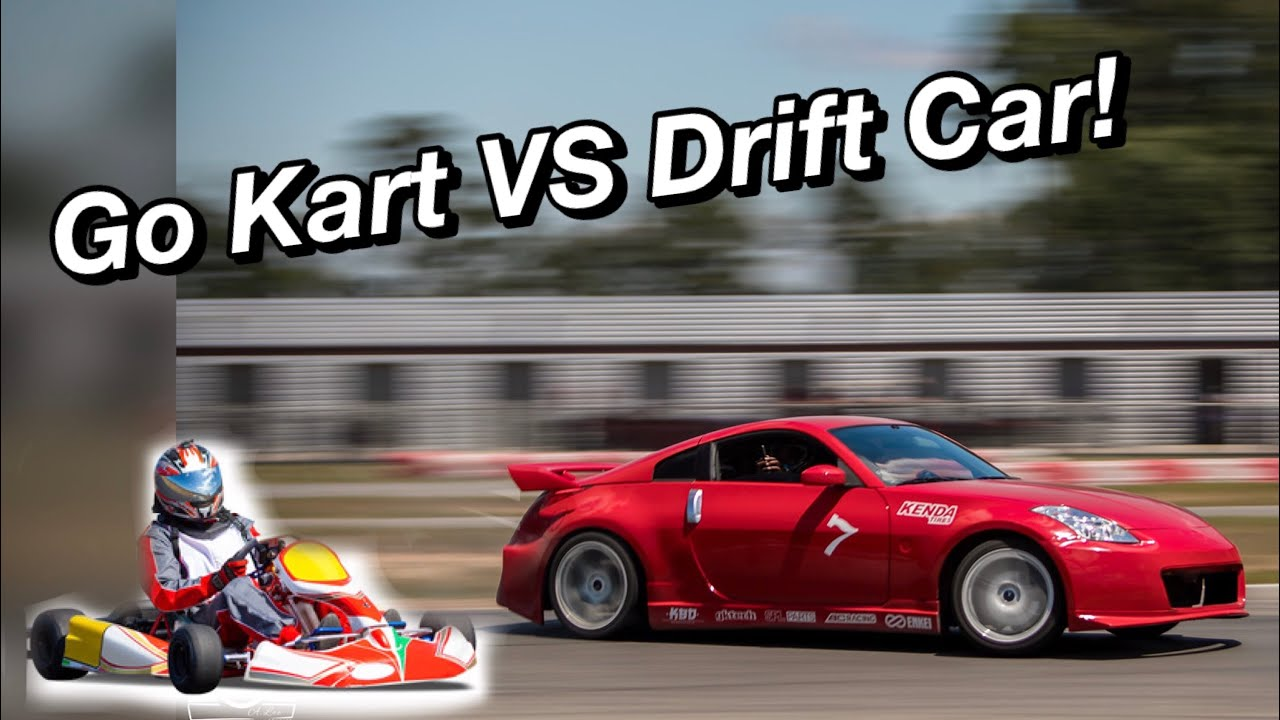 Go-Kart VS.  Drift Car!  How to go fast without breaking your ribs 🚗💨🏎💨