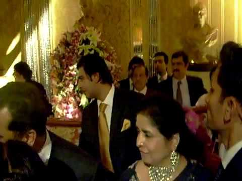 Yousaf Raza Gillani prime minister of Pakistan in a private marriage