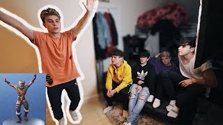 FORTNITE DANCES IN REAL LIFE *BOYBAND EDITION*