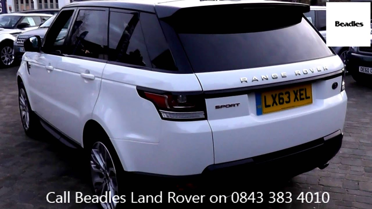 beadles fuji white 2013 land rover range rover sport sdv6. Black Bedroom Furniture Sets. Home Design Ideas