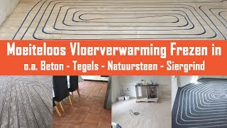 Vloerverwarming infrezen in beton