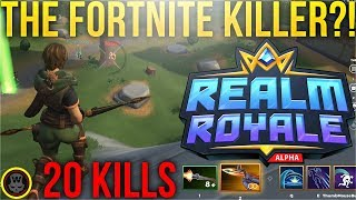 THE FORTNITE KILLER?! 20 KILLS DUO! Realm Royale Hunter Gameplay