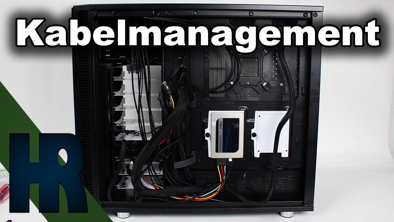 Kabelmanagement   PC richtig verkabeln Tutorial Deutsch - PC Bauen ...