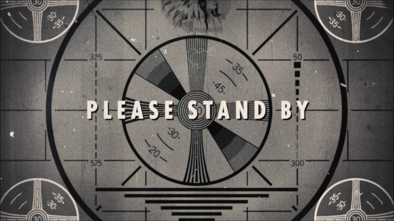 Fallout 4 Please Stand By Ambiance White Noise Live Wallpaper