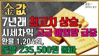 [금값,금시세] 금값 7년래 최고치 상승, 시세차익 고…