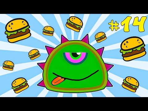 Лизун СЛИЗНЯК захватывает мир #14. Глазастик съел всех на земле. Серия 3. Игра Mutant Blobs Attack