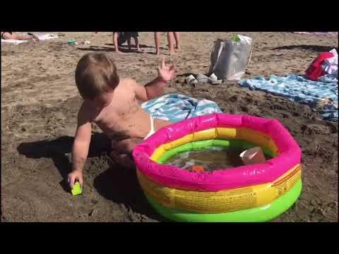 На пляже развивающие занятия для малышей 1- 2 года - YouTube