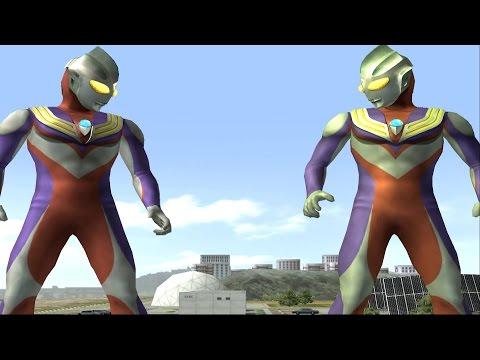 Sieu Nhan Game Play | Ultraman tiga và Ultraman tiga đấu với quái vật