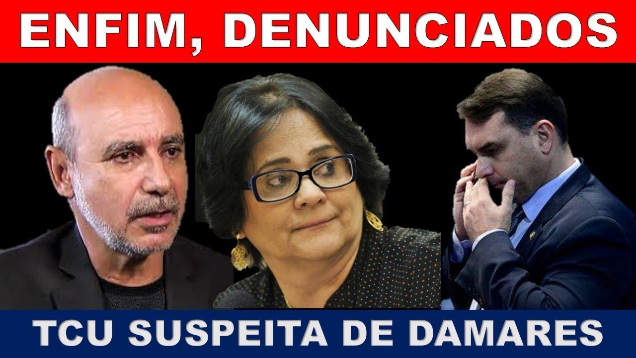 BOMBA! MP DENUNCIA FLÁVIO BOLSONARO E QUEIRÓZ! TCU DESCONFIA DE DAMARES!