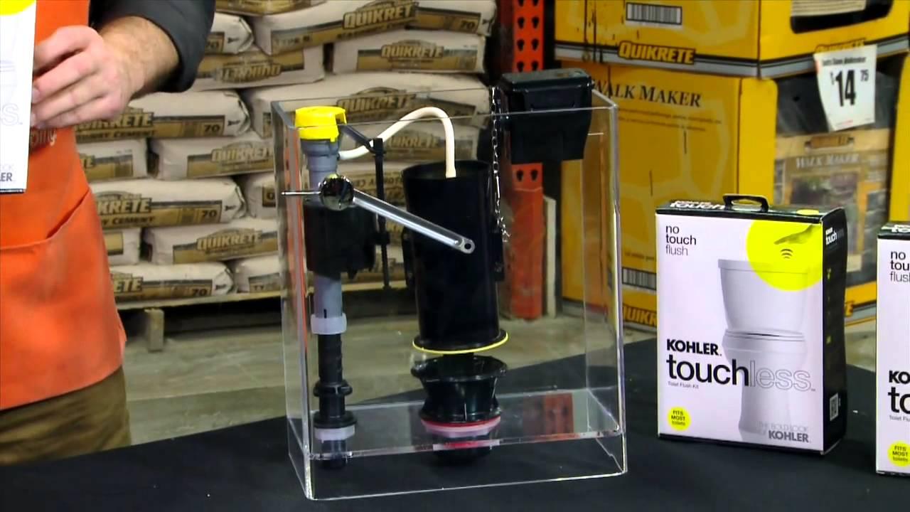 Kohler Touchless Toilet Flush Kit The Home Depot Youtube
