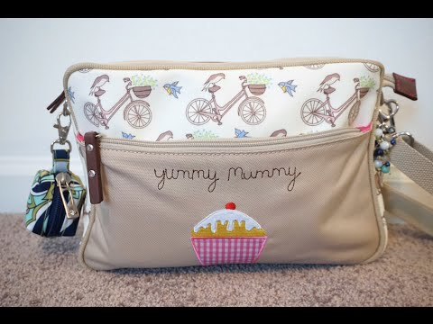 Review/Packing Video: Pink Lining Mini Yummy Mummy Diaper Bag Packed With Ju-Ju-Be!