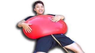 NTN - Thử Bơm Nước Vào Quả Bóng Bay Khổng Lồ (Filling water into giant balloon)