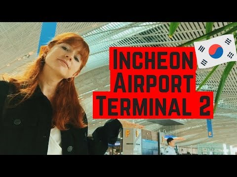 Incheon Airport Terminal 2 Mini Tour | How To Use The Free Shuttle Bus in Seoul, Korea